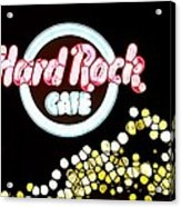 Urban Abstract Hard Rock Cafe Acrylic Print by Dan Sproul