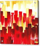 Urban Abstract Red City Lights Acrylic Print