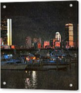 Urban Boston Skyline Acrylic Print
