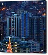 Urban Christmas Tree Acrylic Print
