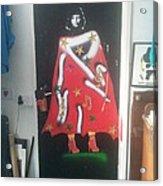 Urban Gorrilla Gay Guevara With Gun And Holster Acrylic Print