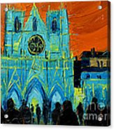 Urban Story - The Festival Of Lights In Lyon Acrylic Print