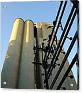 Urban Towers And Poles Acrylic Print