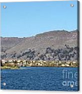 Uros Floating Island Village Acrylic Print