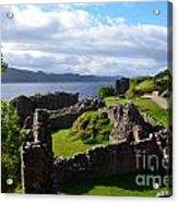 Urquhart Castle Ruins Acrylic Print