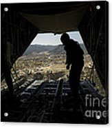 U.s. Air Force Airman Pushes Acrylic Print by Stocktrek Images