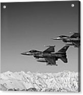 U.s. Air Force F-16 Fighting Falcons Over Afghanistan. Acrylic Print