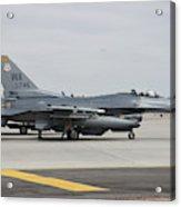 U.s. Air Force F-16c Planes Undergo Acrylic Print
