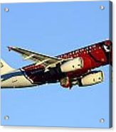 Us Airways Airbus A319-132 N837aw Arizona Cardinals Phoenix Sky Harbor December 24 2014  Acrylic Print