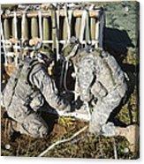 U.s. Army Europe Soldiers Perform Acrylic Print