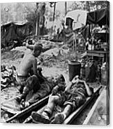 U.s. Army Medics Treat Wounded Soldiers Acrylic Print