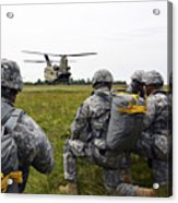 U.s. Army Paratroopers Prepare To Board Acrylic Print
