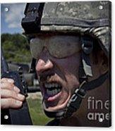 U.s. Army Sergeant Testing Acrylic Print
