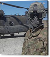 U.s. Army Soldier Stands Ready To Load Acrylic Print