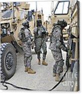 U.s. Army Soldiers Jump Start A Light Acrylic Print
