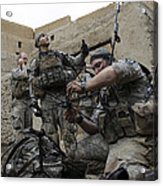 U.s. Army Soldiers Set Up A Tactical Acrylic Print