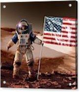 Us Astronaut On Mars Acrylic Print