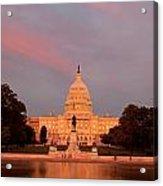 Us Capitol At Sunset Acrylic Print