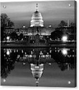 U.s. Capitol Building & Reflecting Acrylic Print