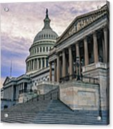 Us Capitol Building And Senate Chamber Acrylic Print