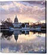 Washington Dc Us Capitol Building At Sunrise Acrylic Print