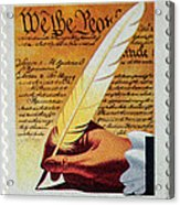 Us Constitution Stamp Acrylic Print