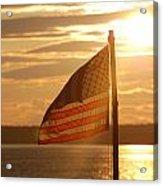 Us Flag At Sunset Acrylic Print