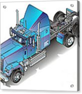 Us Heavy Truck Acrylic Print