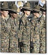 U.s. Marine Corps Female Drill Acrylic Print