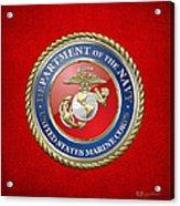 U. S. Marine Corps - U S M C Seal  Acrylic Print