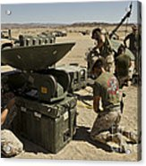 U.s. Marines Assemble A Support Wide Acrylic Print