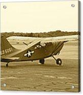 U.s. Military Recon Single Engine Plane Acrylic Print
