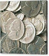 U.s. Nickels Acrylic Print