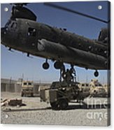 U.s. Soldiers Attach Sling Load Ropes Acrylic Print