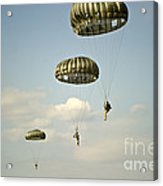 U.s. Soldiers Descend Through The Sky Acrylic Print