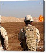 U.s. Soldiers Detonate A Test Explosion Acrylic Print