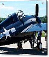 Us Ww II Fighter Plane Acrylic Print