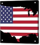 Usa And Flag Acrylic Print