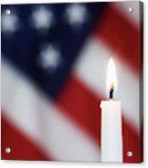 Usa, California Burning Candle Acrylic Print