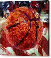 Usa Flag And Basketball Abstract Acrylic Print