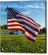 Usa Flag Acrylic Print by Phyllis Bradd
