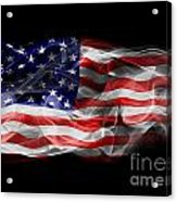 Usa Flag Smoke  Acrylic Print