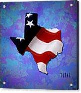 Usa Flagtexas State Digital Artwork Acrylic Print