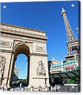 Usa, Nevada, Las Vegas, Paris Las Vegas Acrylic Print