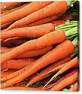 Usa, New York City, Fresh Carrots Acrylic Print