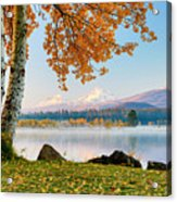Usa, Oregon, Bend, Fall At Black Butte Acrylic Print