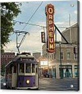 Usa, Tennessee, Vintage Streetcar Acrylic Print