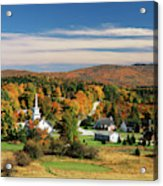 Usa, Vermont, Northeast Kingdom, View Acrylic Print