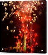 Usa, Washington Dc, Fireworks Acrylic Print