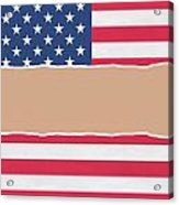 Usa Wrapping Paper Torn Through The Centre Acrylic Print